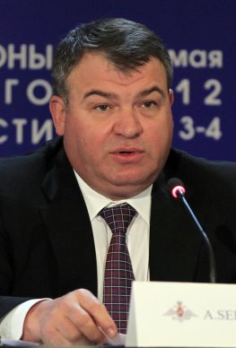 "Russia's Defense Minister Anatoly Serdyukov warns that talks between Moscow and Washington on the U.S.-led NATO missile defense plan in Europe are ""close to a dead end"" on May 3, 2012, as officials scrambled to save the deal at a top-level conference. (Associated Press)"