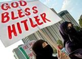 Muslim women demonstrating in England.