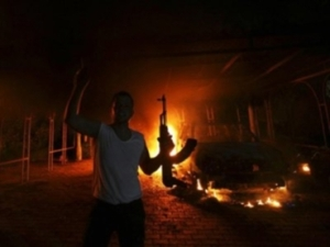 This was Benghazi but as things break down, .... it's soon to be America.