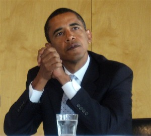 Obama in thought