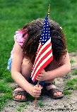young patriotic girl